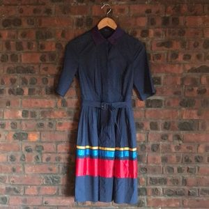 The Limited Navy Shirt Dress with Stripes. Size 4